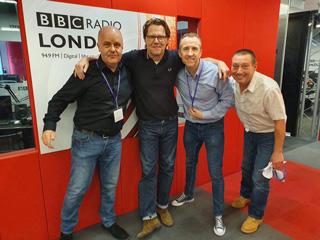 Jukebox Party Band with Robert Elms at BBC Radio London