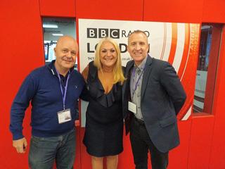 Jukebox Party Band with Vanessa Feltz at BBC Radio London