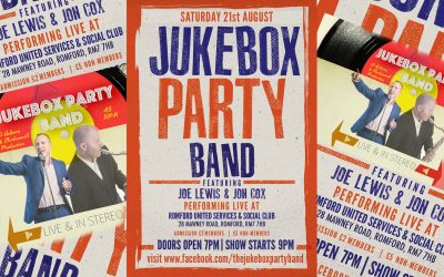 Jukebox Party Band LIVE in Romford Essex on Sat 21st August